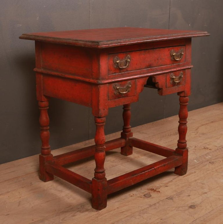 George III Unusual Painted Lowboy For Sale