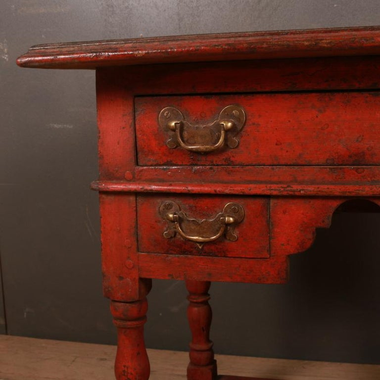 English Unusual Painted Lowboy For Sale