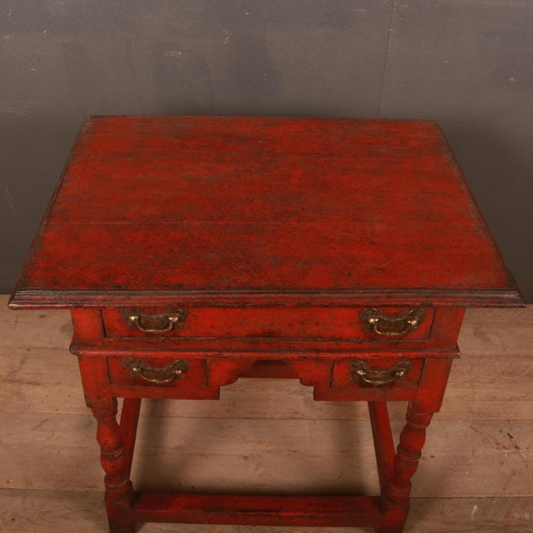 Hand-Painted Unusual Painted Lowboy For Sale