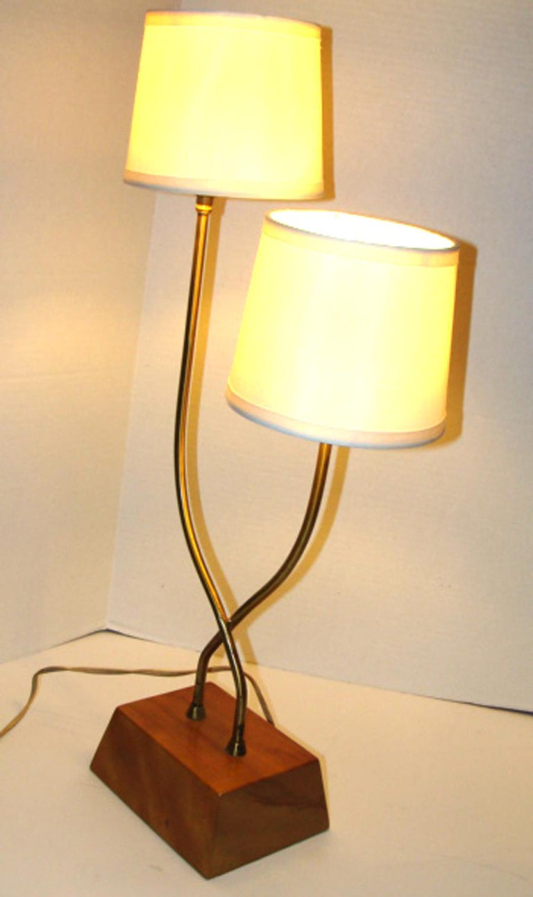 Mid-Century Modern Unusual Pair of Heifetz Table Lamps For Sale