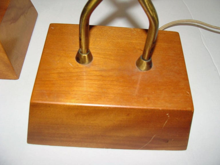 American Unusual Pair of Heifetz Table Lamps For Sale