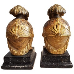 Unusual Pair of Neoclassical Italian Bookends