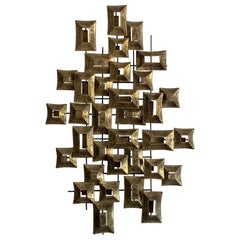 Unusual Patinated Brass Sculpture