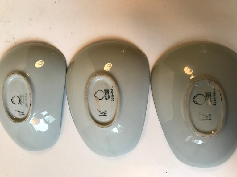 Unusual Pottery Bowls by Bjorn Wiinblad for Nymølle, 1970s, Set of 3 5