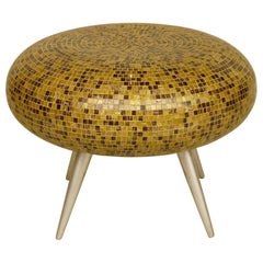 Unusual Pouf with Mosaics