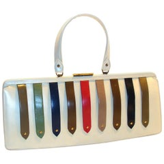 Unusual & Rare Architectural Purse with Colorful Detail 16.5 Inches Wide!