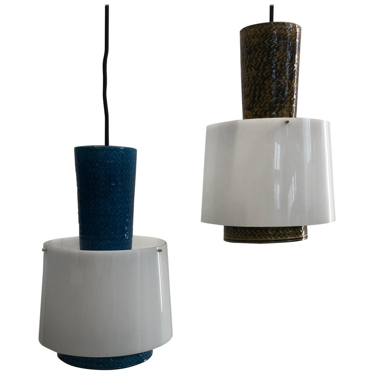 Unusual Set of Lamps by Herman A. Kähler For Sale