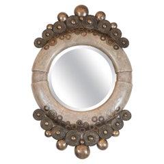 Unusual Shagreen Mirror