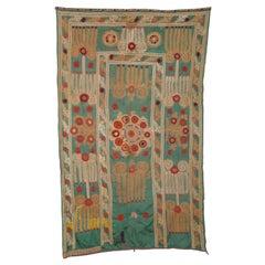 Unusual Silk Suzani from Uzbekistan, Early 20th Century