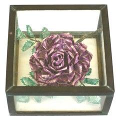 "Unusual ""Stamp"" Rose in Box"
