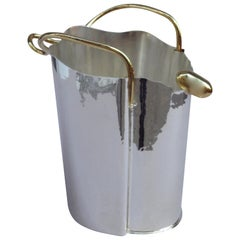 Unusual Sterling Silver Champagne Cooler