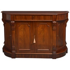 Unusual Victorian Mahogany Sideboard