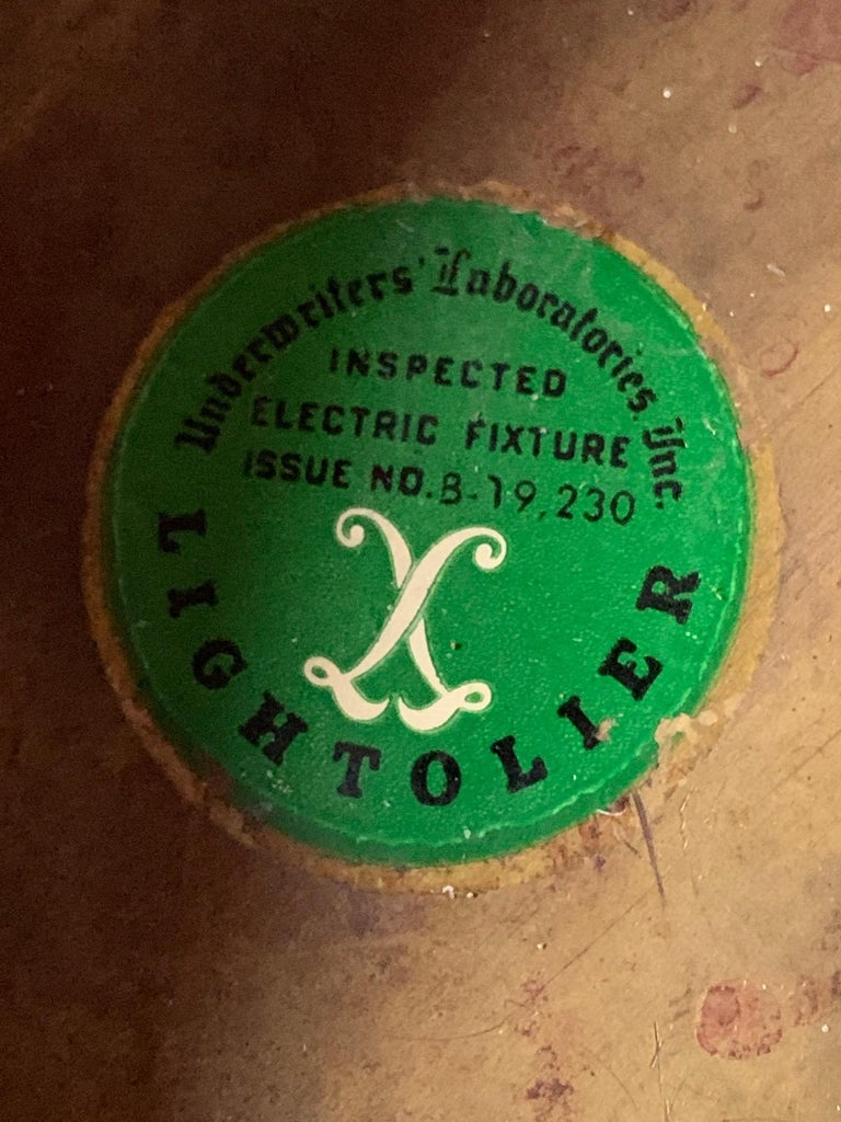 Unusual Vintage Chandelier by Lightolier, 1950s For Sale 2