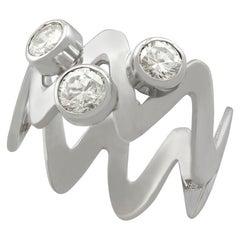 Unusual Vintage Diamond and Platinum Cocktail Ring