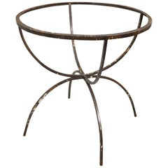 Unusual Wrought Iron Dining Table Base