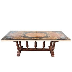 Unusual, Early 19th Century, Italian, Painted Table