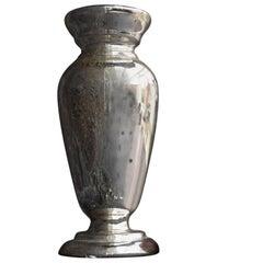 Unusually large 19th Century French Glass Mercury Vase