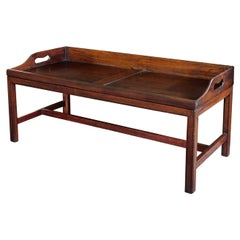 Unusually Large English Oak Butler's Tray Now Mounted as a Coffee Table