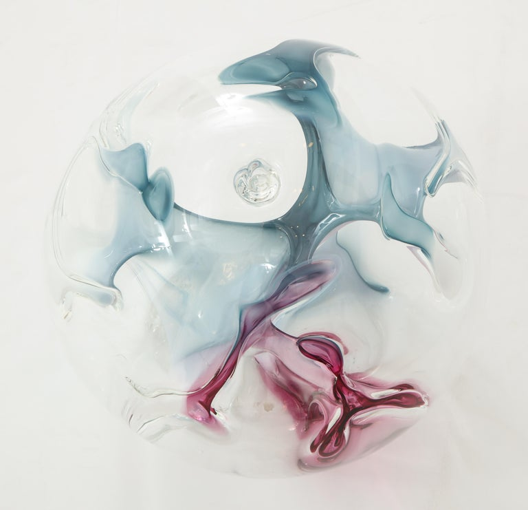 American Unusually Large Glass Sculpture by Peter Bramhall For Sale