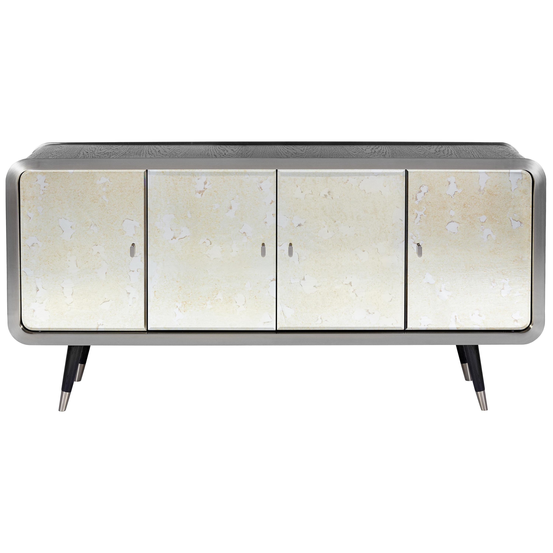 Unveil Sideboard 180, Steel and Dark Oak, InsidherLand by Joana Santos Barbosa