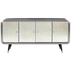 Unveil Sideboard 180, Steel and Dark Oak, InsidherLand by Joana Santos Barbosa
