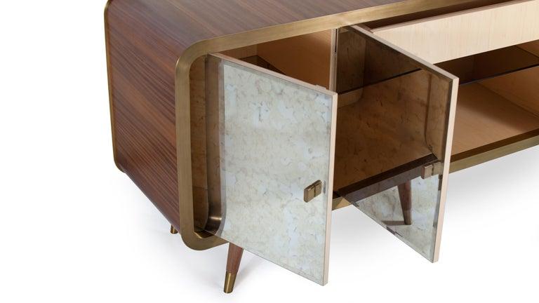 Portuguese Unveil Sideboard 200, Bronzed Brass Walnut, InsidherLand by Joana Santos Barbosa For Sale
