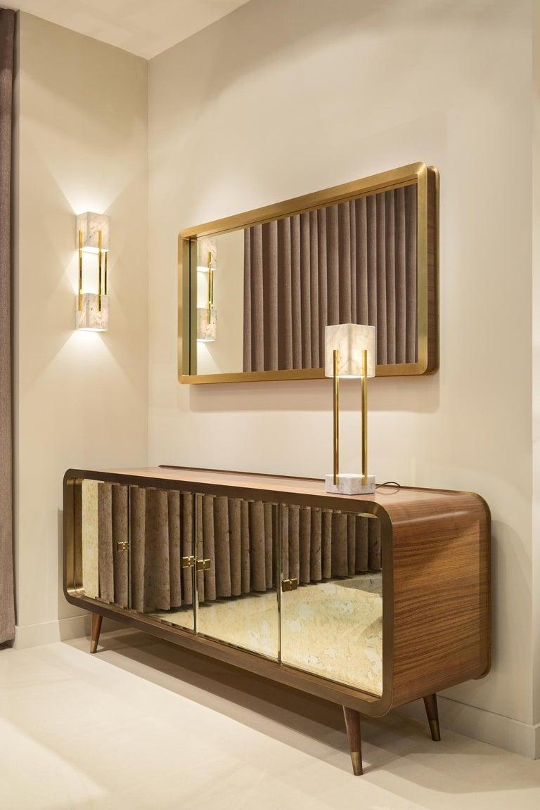 Woodwork Unveil Sideboard 200, Bronzed Brass Walnut, InsidherLand by Joana Santos Barbosa For Sale