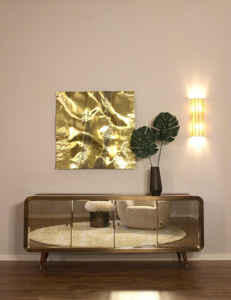 Contemporary Unveil Sideboard 200, Bronzed Brass Walnut, InsidherLand by Joana Santos Barbosa For Sale