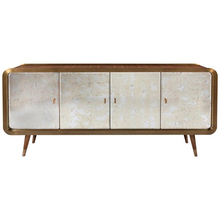 Unveil Sideboard 200, Bronzed Brass Walnut, InsidherLand by Joana Santos Barbosa For Sale