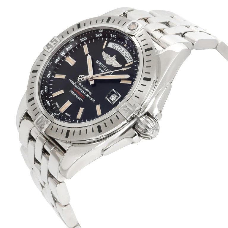 Unworn Breitling Galactic 44 A45320B9/BD42 Men's Watch in Stainless Steel In Excellent Condition In New York, NY