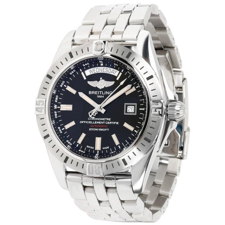 Unworn Breitling Galactic 44 A45320B9/BD42 Men's Watch in Stainless Steel