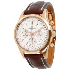 Unworn Breitling Transocean Chronograph RB015212/G738 Men's Watch 18kt Rose Gold