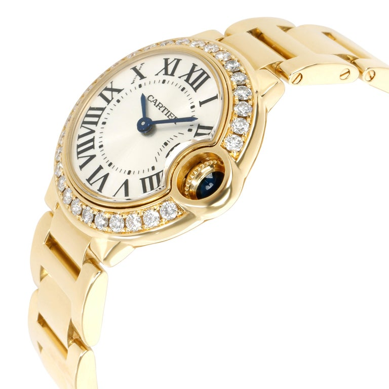 Retail price 31300 USD. Unworn and in excellent condition. All components are factory original. Photos of actual watch. Cartier Calibre 057, 4 Jeweled Movement. Comes with the original box, papers, and instructions.   Unworn Cartier Ballon Bleu