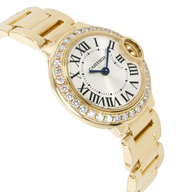 Modern Unworn Cartier Ballon Bleu WE9001Z3 Women's Watch in 18 Karat Yellow Gold For Sale