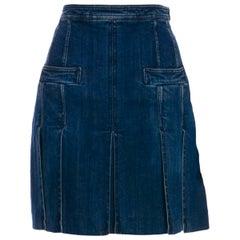 UNWORN Chanel Denim Jeans Skirt
