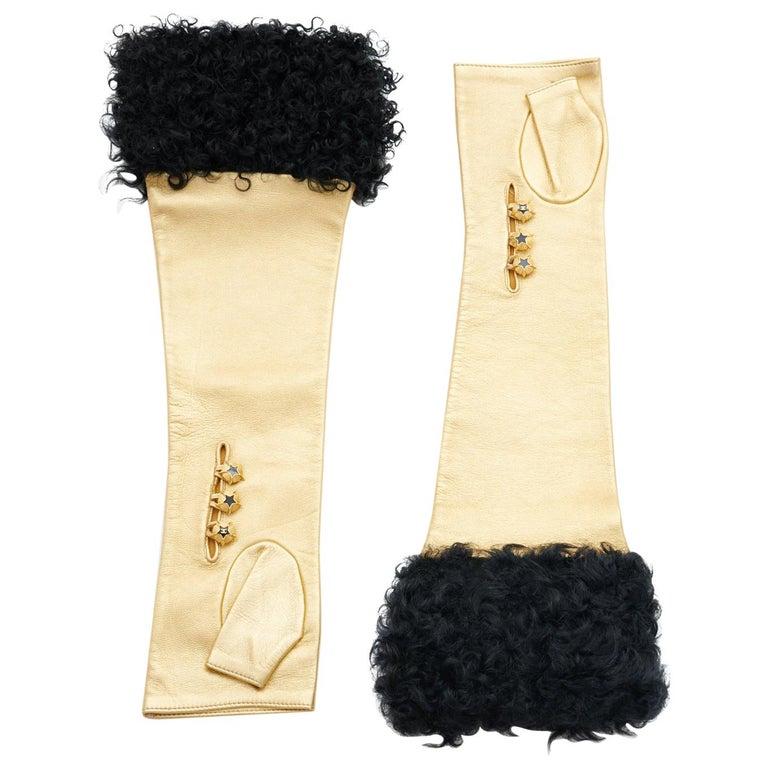 "Unworn Chanel Runway ""Paris-Moscou"" Fingerless Gloves, Pre-Fall 2009 For Sale"