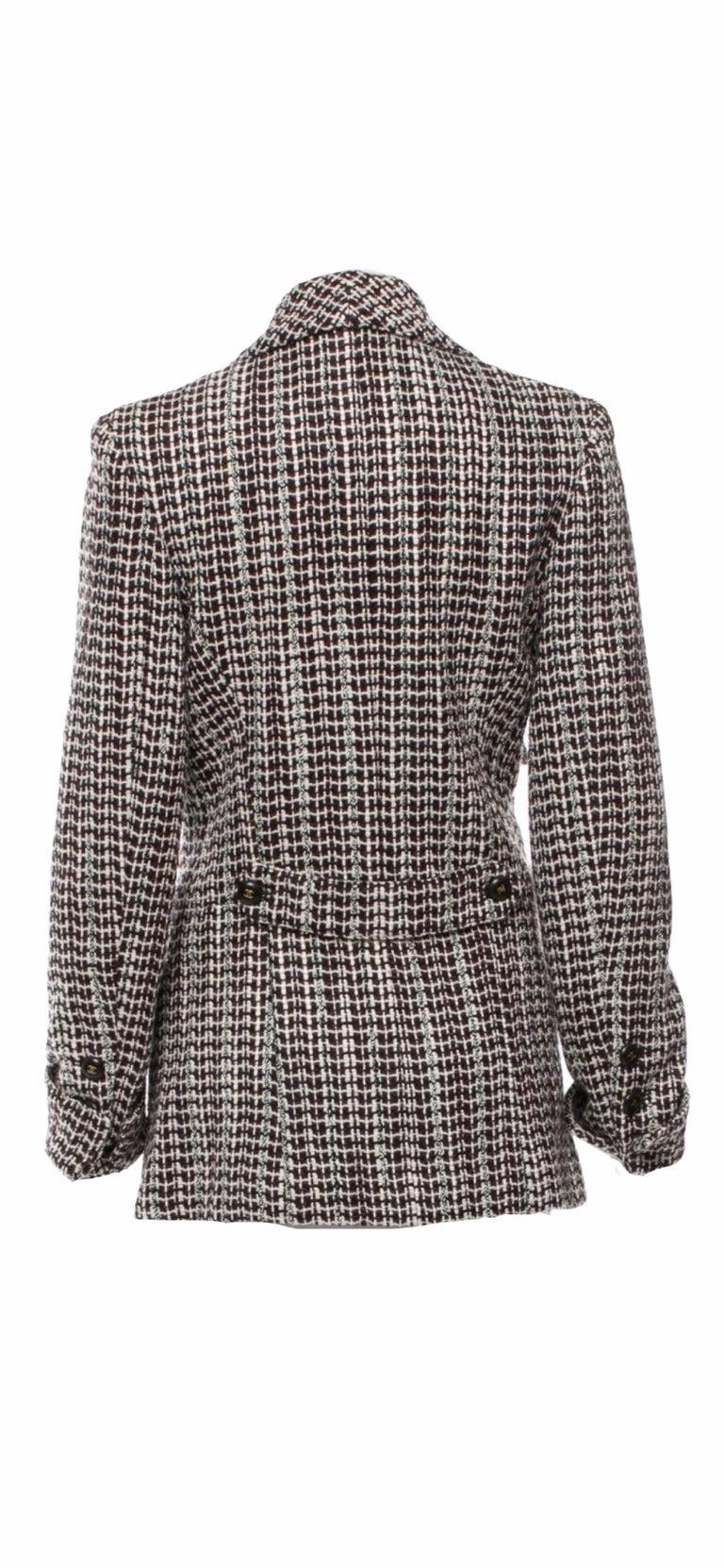 Gray UNWORN Chanel Tweed & Sequins CC Logo Button Short Coat Jacket Blazer For Sale