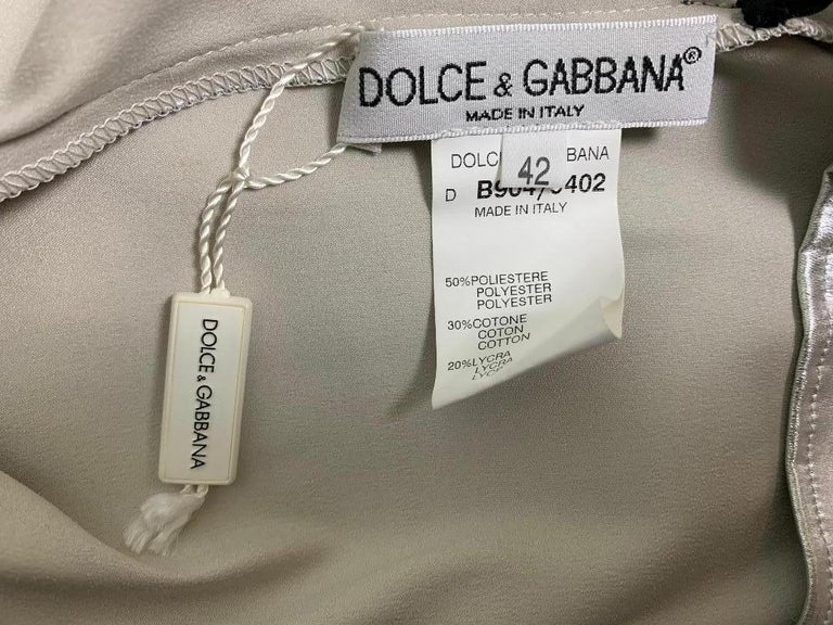 Unworn F/W 1998 Dolce & Gabbana Runway Silver Mesh Painted Wiggle Dress In New Condition For Sale In Yukon, OK
