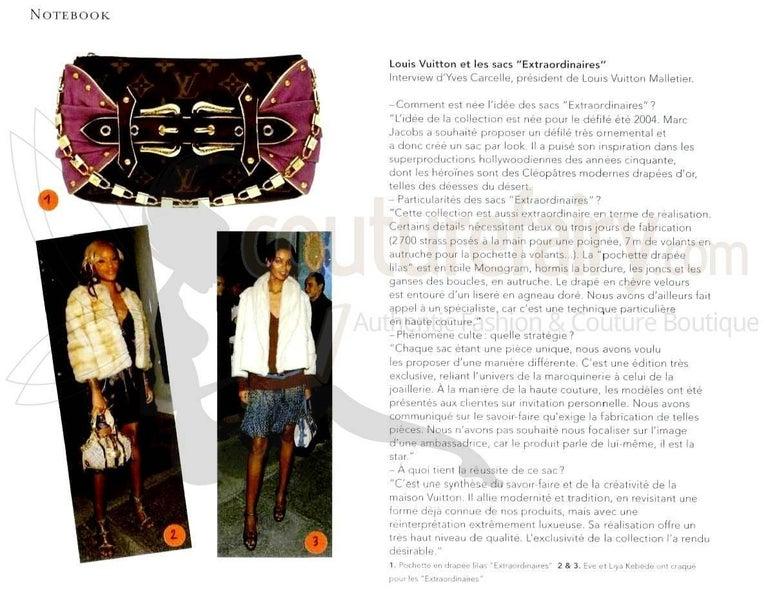 Women's UNWORN Louis Vuitton Extraordinaire Monogram Ostrich Pochette Lock Chain  For Sale
