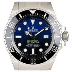 Unworn Rolex Deepsea Sea-Dweller Stainless Steel D-Blue Dial 116660 Watch