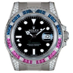 Unworn Rolex GMT-Master II Gents White Gold Black Dial B&P 116759SARU Automatic