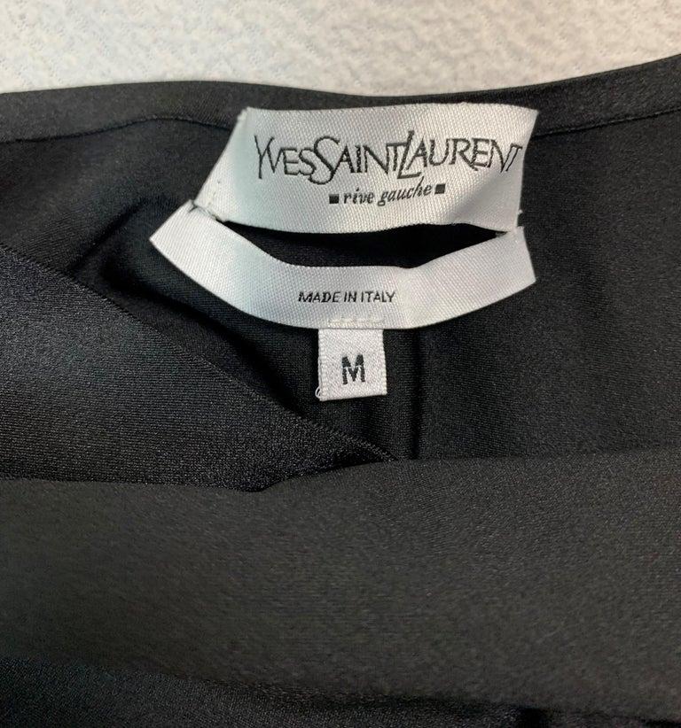 Women's Unworn S/S 2004 Yves Saint Laurent Tom Ford Plunging Black Swimsuit For Sale
