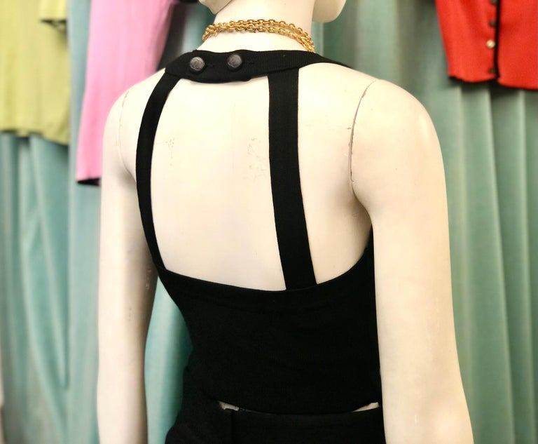 Unworn with Tag Chanel 1996 Black Tank Top  In New Condition For Sale In Sheung Wan, HK