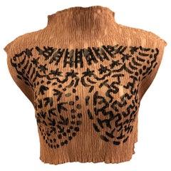 Unworn with Tag Vintage 90s Issey Miyake Pattern Cropped Top