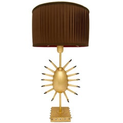 Uovo Raggiante Golden Table Lamp