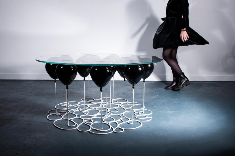 British Up! Balloon Coffee Table, Black Edition For Sale