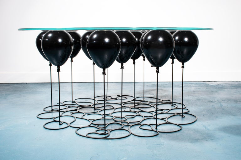 Up! Balloon Coffee Table, Black Edition For Sale 1