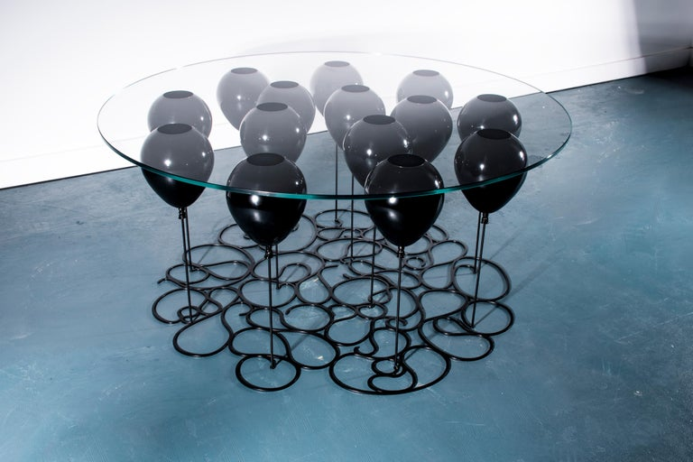 Up! Balloon Coffee Table, Black Edition For Sale 2