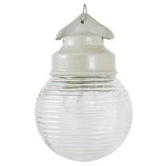 Up to 18 Unused Holophane Porcelain Honey Jar Industrial Pendant Lights
