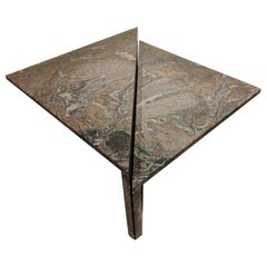 Up & Up Granite Triangular Coffee Tables, 1970s